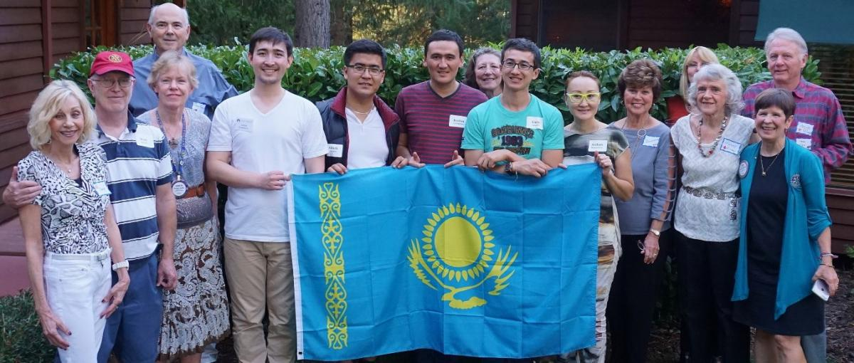 Kazakhstan delegation and hosts
